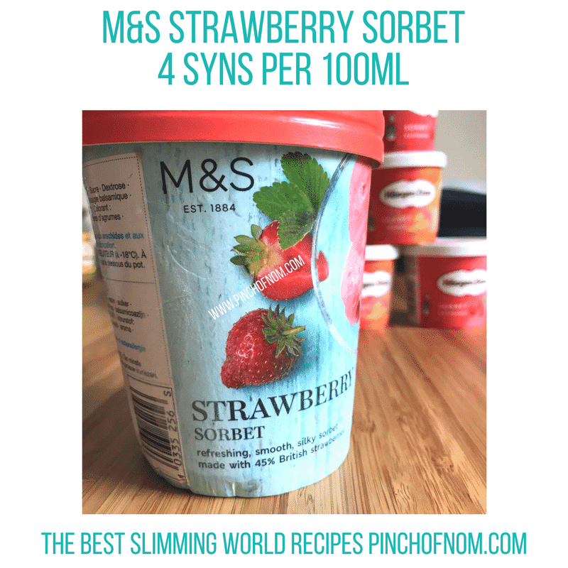 m&s strawberry sorbet - new Slimming World shopping essentials