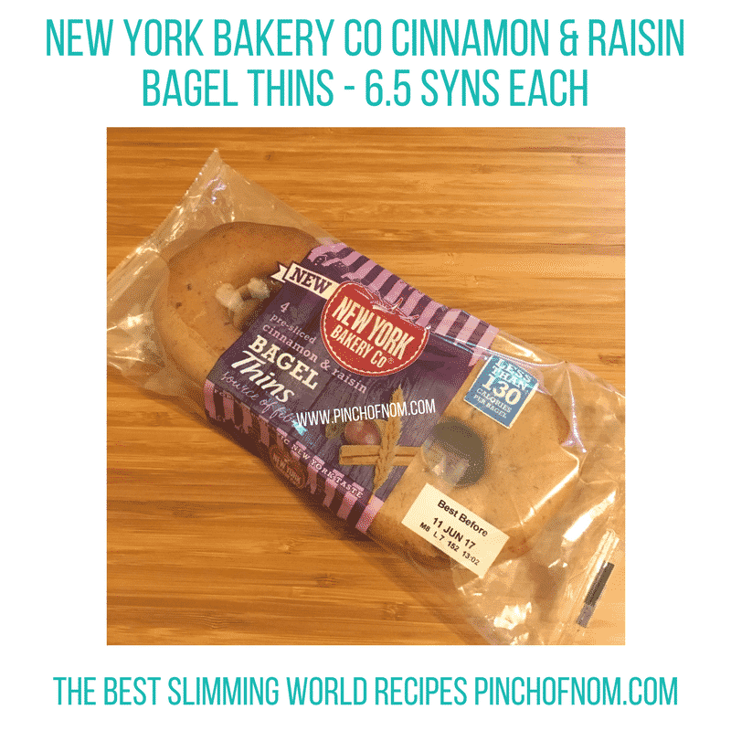 new york bakery cinnamon and raisin bagels New Slimming World Shopping Essentials