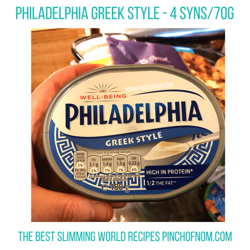philadelphia greek style New Slimming World Shopping Essentials