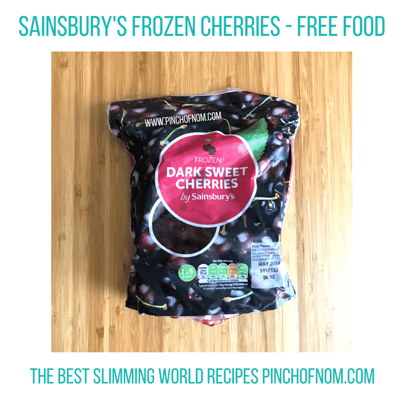 sainsburys frozen cherries New Slimming World Shopping Essentials