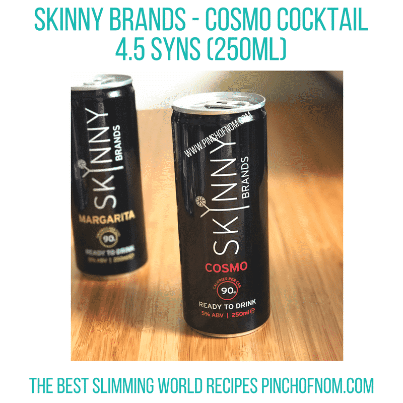 skinny brands cocktails - new Slimming World shopping essentials