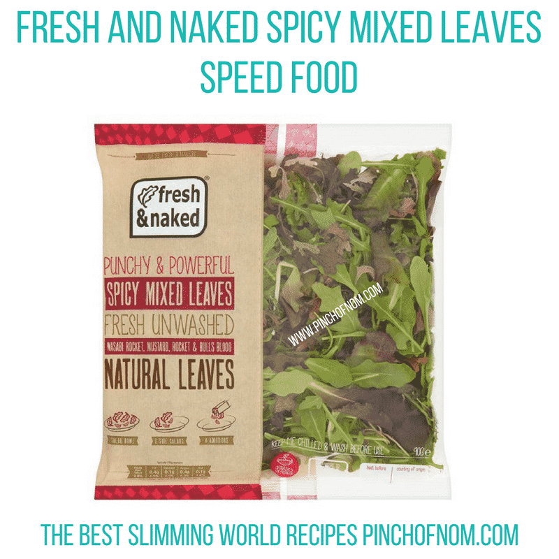 spicy salad leaves - new Slimming World shopping essentials