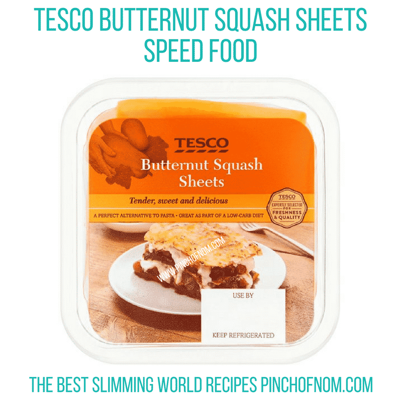 tesco butternut squash sheets - new Slimming World shopping essentials