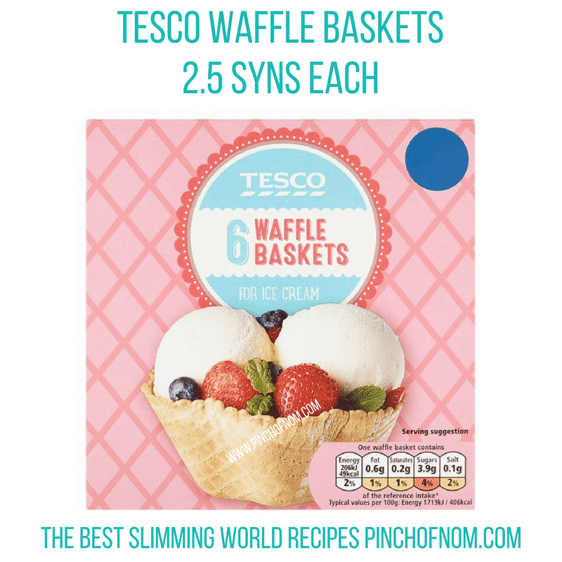 tesco waffle baskets - new Slimming World shopping essentials