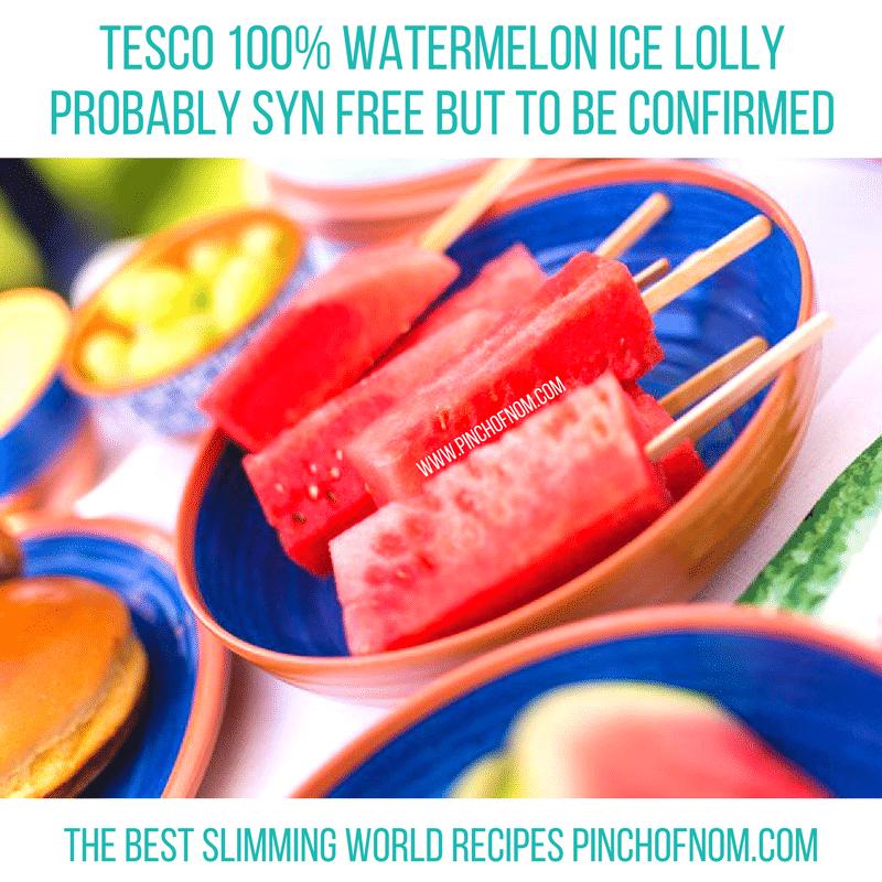 tesco watermelon ice lollies New Slimming World Shopping Essentials - 23:6:17