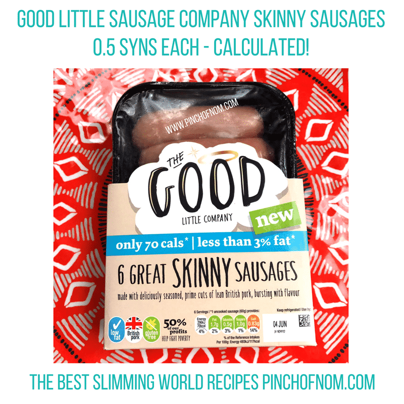 the good little sausage company skinny sausages New Slimming World Shopping Essentials