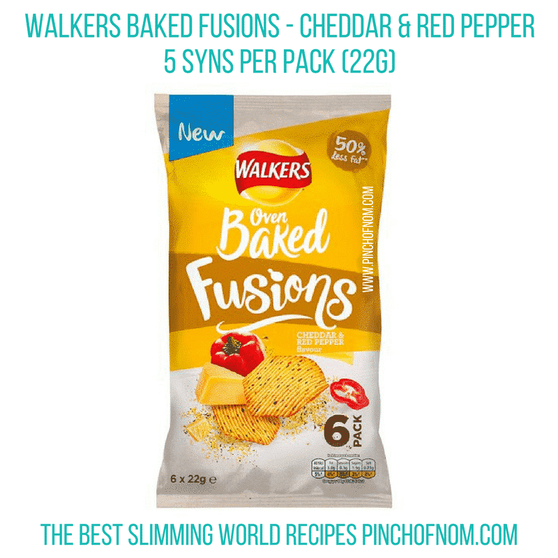 walkers baked fusions cheese - new slimming world essentials pinch of nom