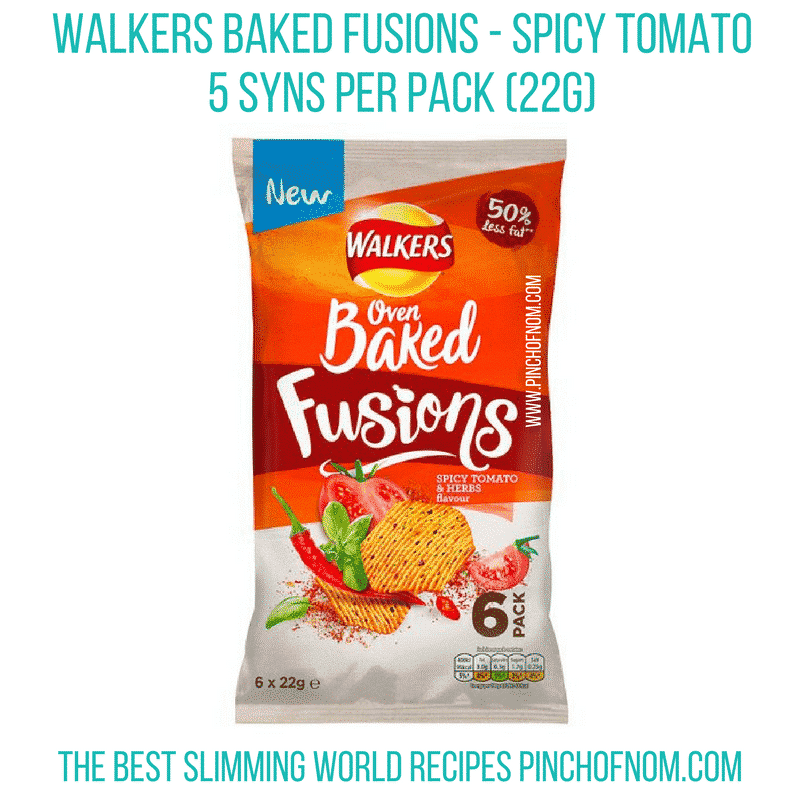 walkers baked fusions tomato - new slimming world essentials pinch of nom