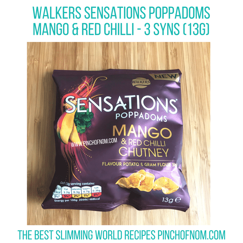 walkers sensations - new Slimming World shopping essentials