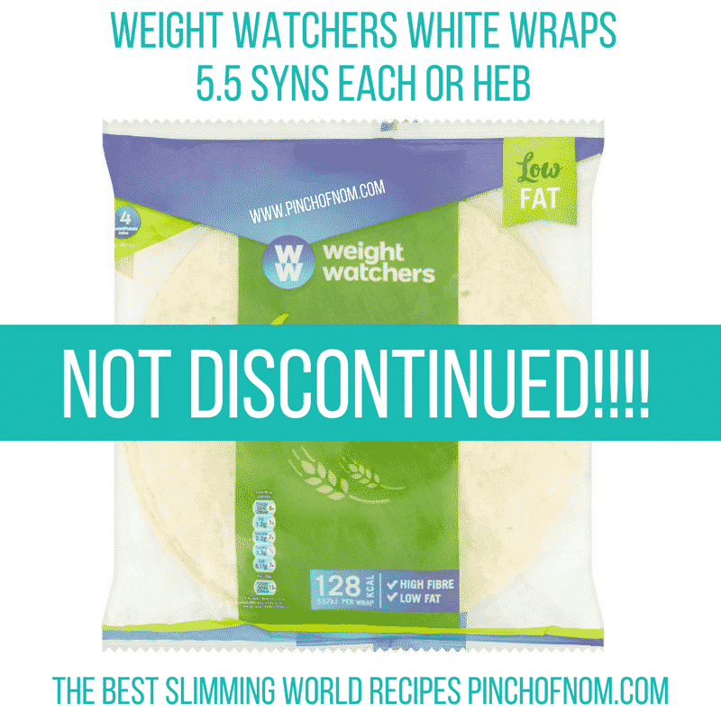 weight watchers wraps not discontinued