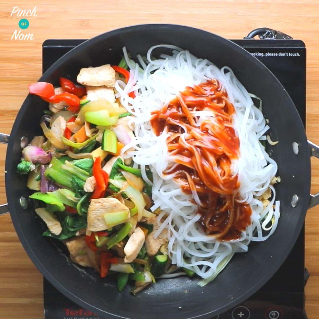Half Syn Chicken Pad Thai - steps | Slimming World