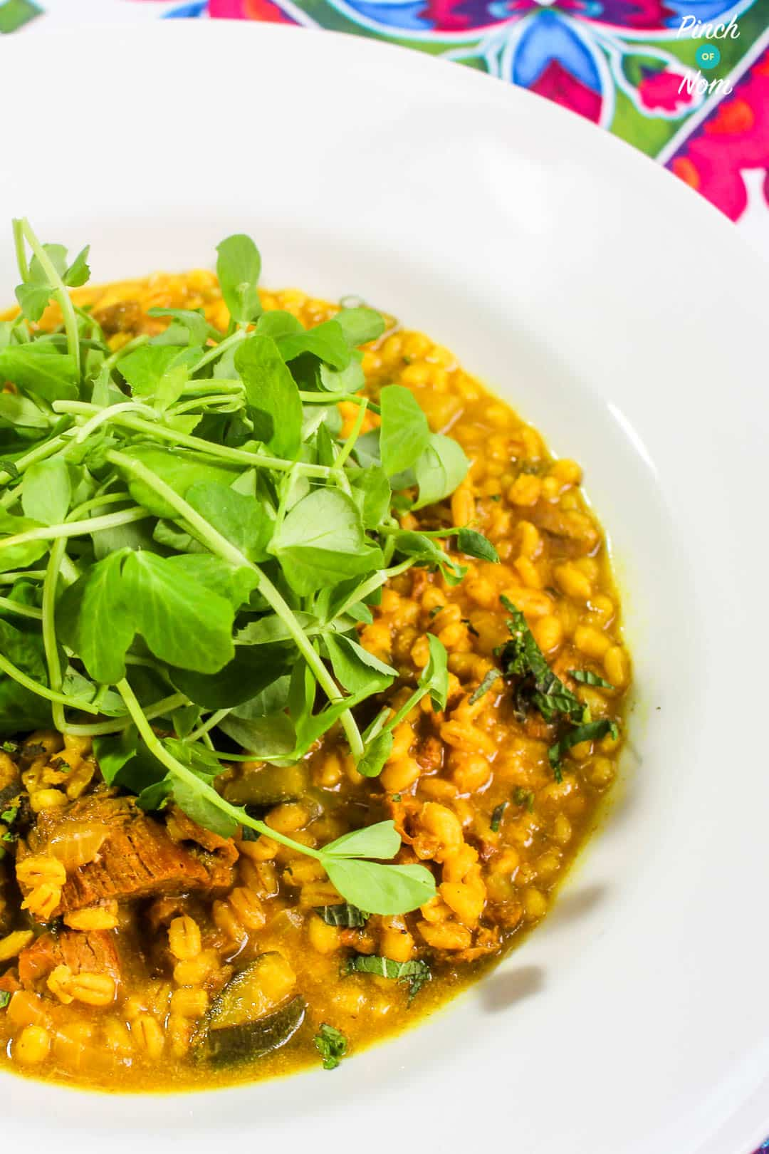 Bowl of Low Syn Lamb and Pearl Barley Risotto | Slimming World