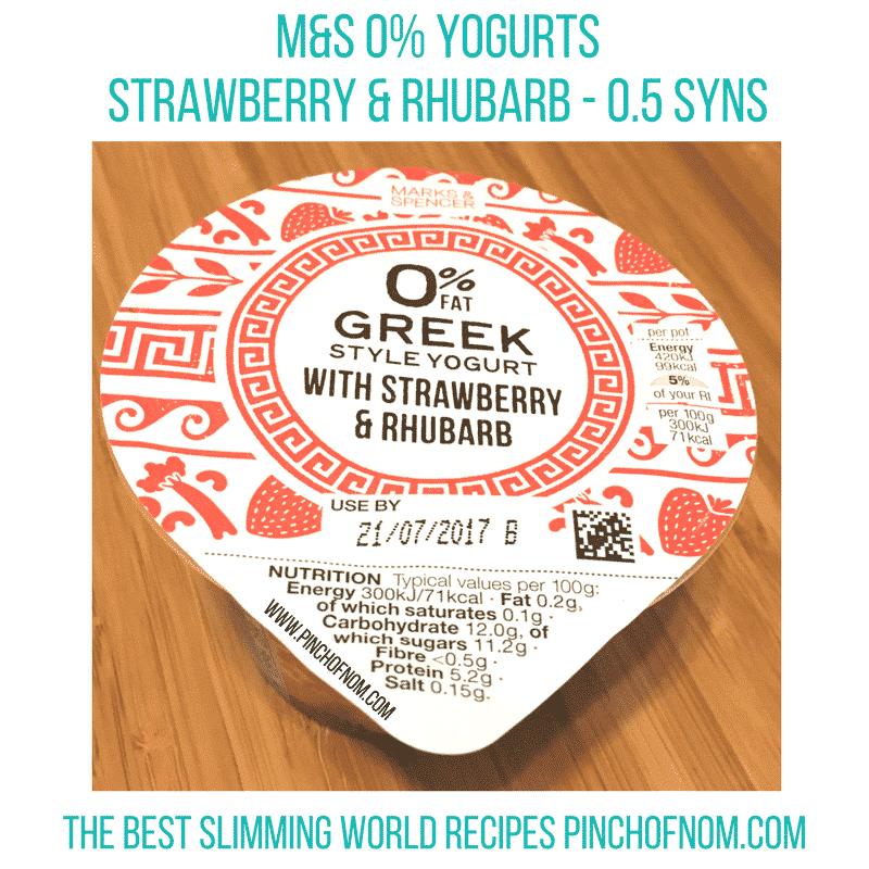 M&S 0% yogurt - new slimming world essentials pinch of nom