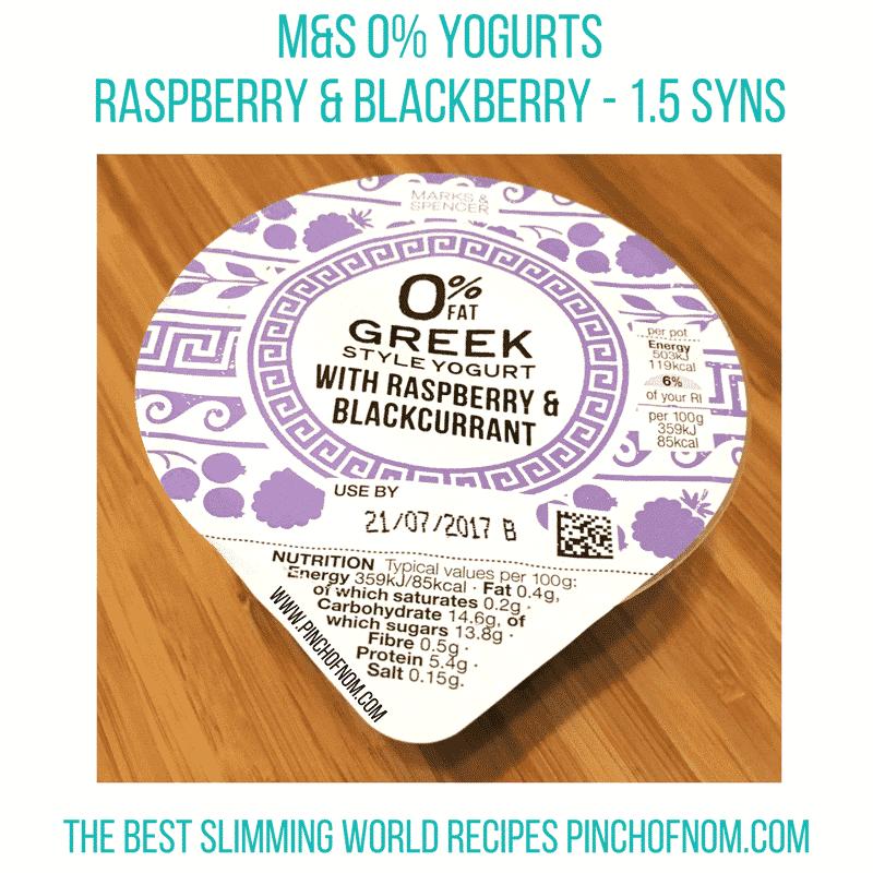 M&S Yogurt - new slimming world essentials pinch of nom