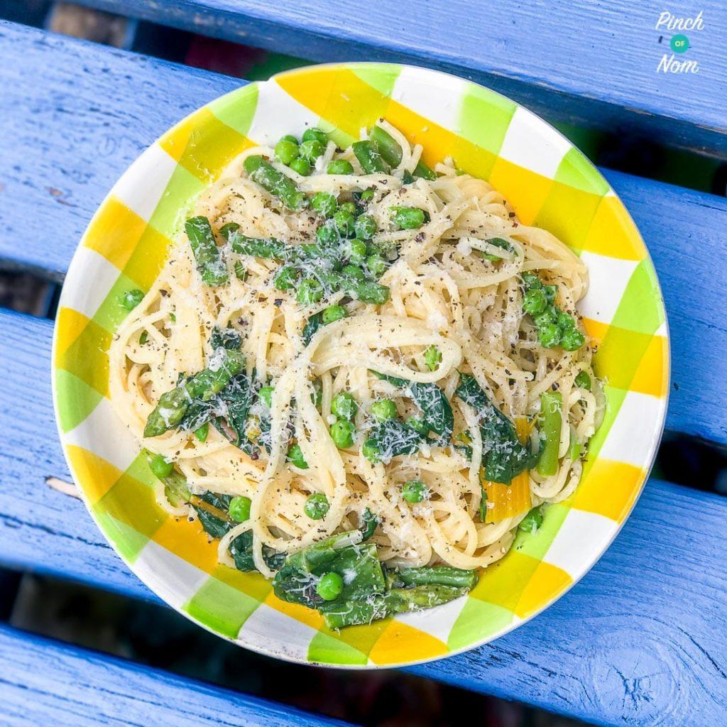 Summer Vegetable Spaghetti pinchofnom.com