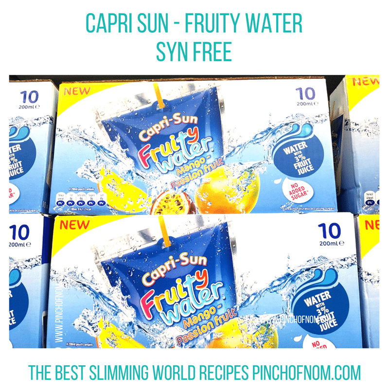 caprisun - water - mango new slimming world shopping essentials - pinch of nom
