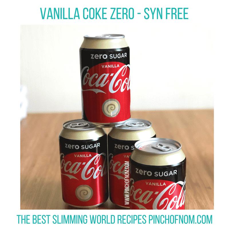 coke zero vanilla - new slimming world essentials pinch of nom
