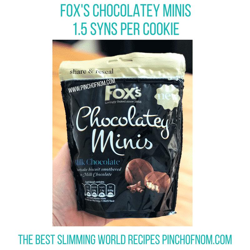 fox chocolatey minis - new slimming world essentials pinch of nom