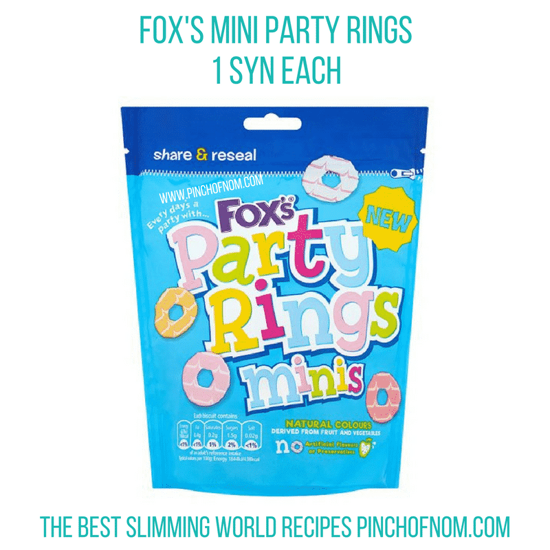 fox mini party rings - new slimming world shopping essentials pinch of nom