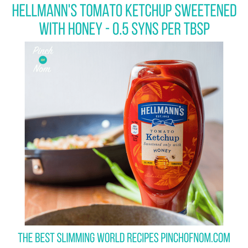 hellman's ketchup sweetened with honey - new slimming world essentials pinch of nom