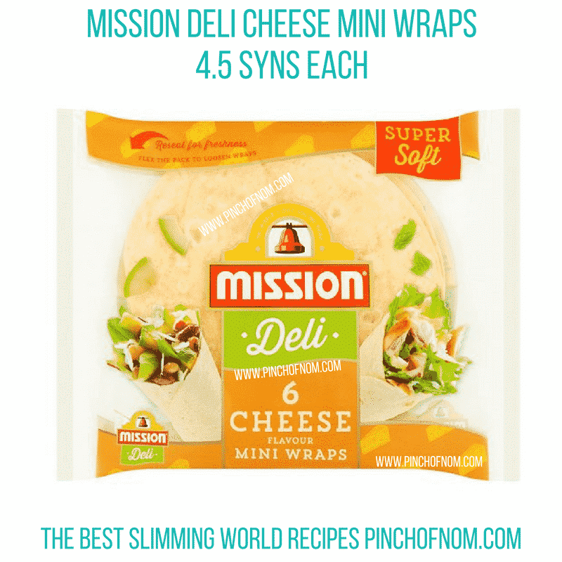 mission deli wraps - pinch of nom new slimming world essentials