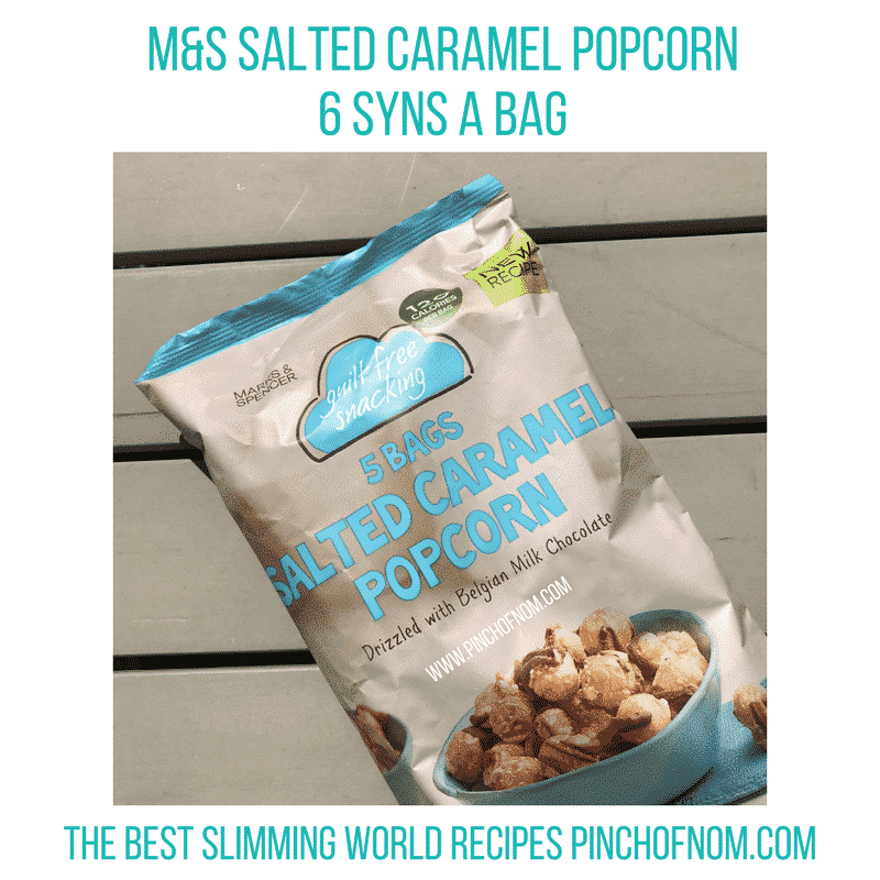 m&s caramel popcorn - pinch of nom new slimming world essentials