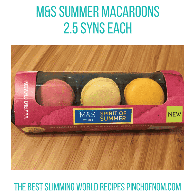 m&s macaroons - new slimming world essentials pinch of nom