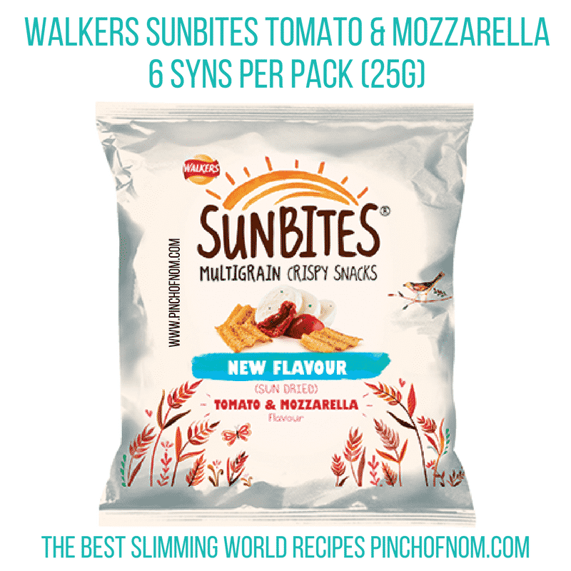 sunbites tomato and mozzarella - new slimming world shopping essentials pinch of nom