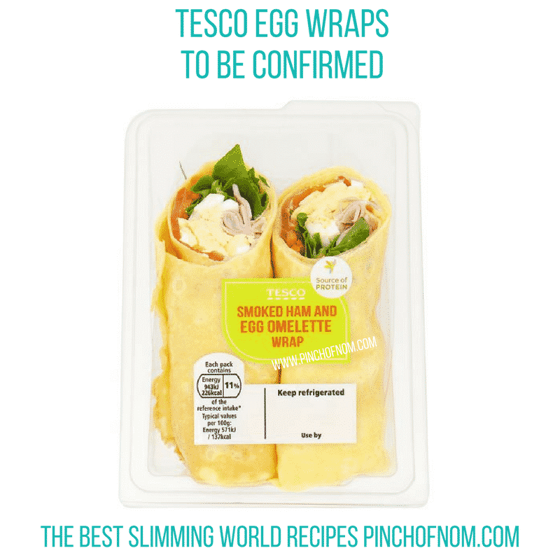 tesco egg wraps 1 - pinch of nom new slimming world essentials