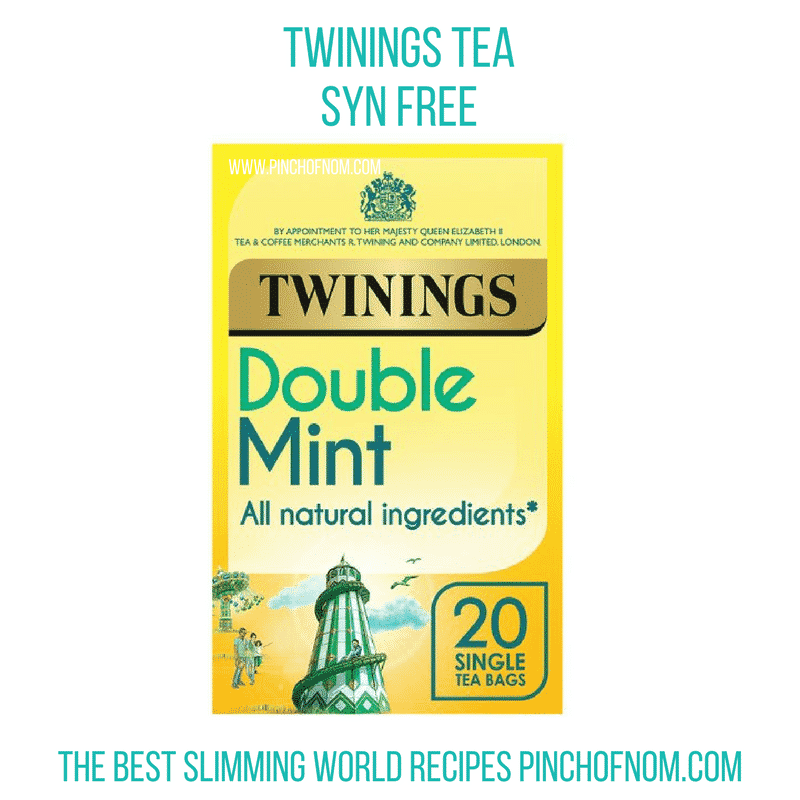 twinings tea - double mint new slimming world shopping essentials - pinch of nom