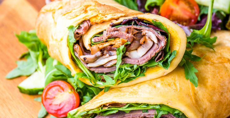 Low Syn Yorkshire Pudding Wrap - featured  Slimming World-1