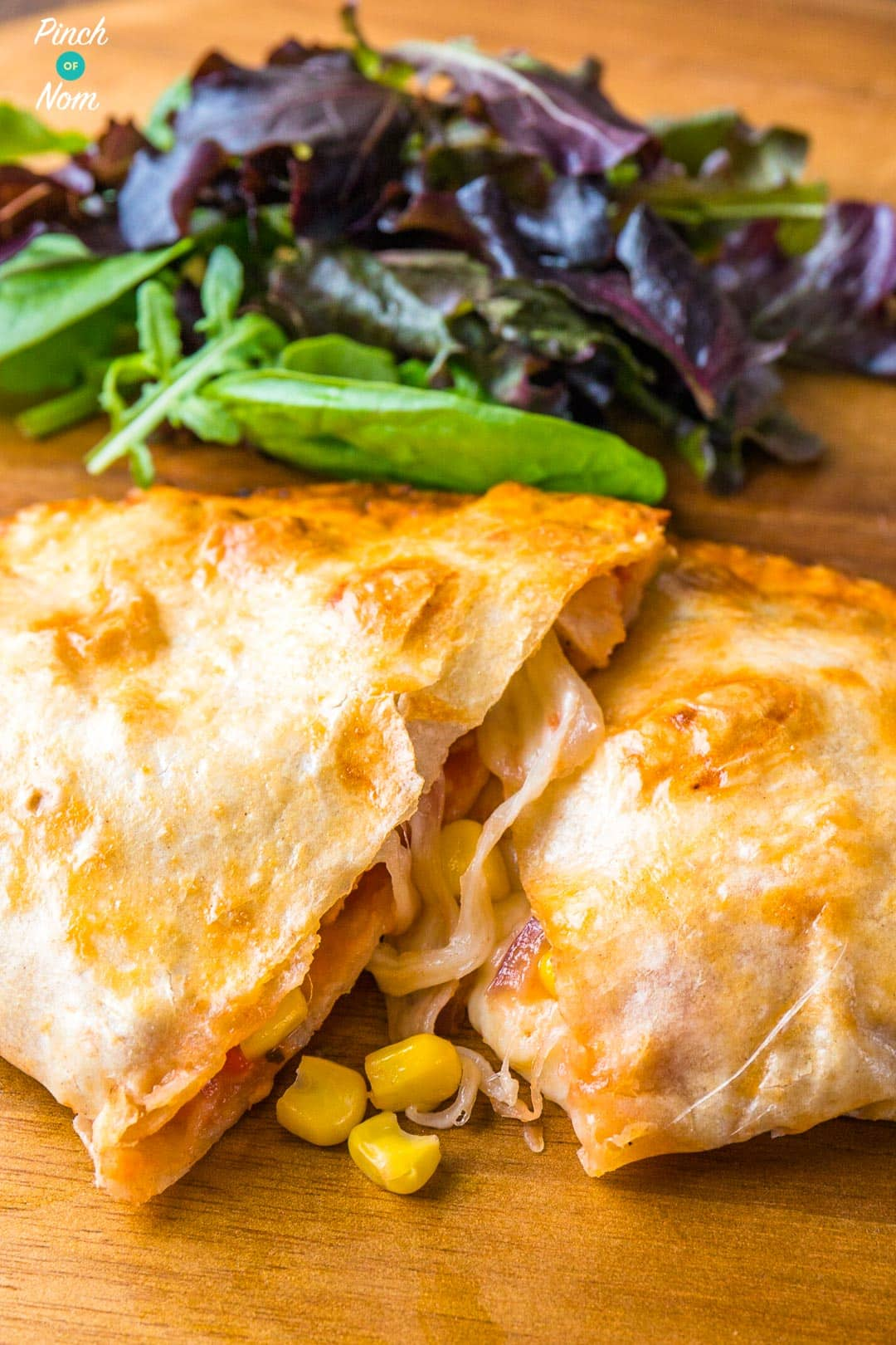 Chicken and Sweetcorn Pizza Calzone | Slimming & Weight Watchers Friendly
