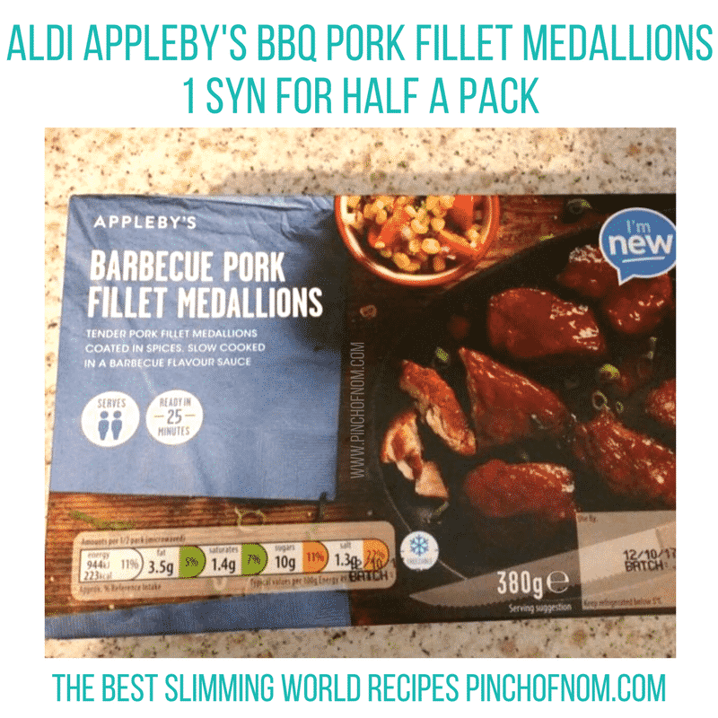 aldi bbq pork fillet - new slimming world shopping essentials - pinch of nom