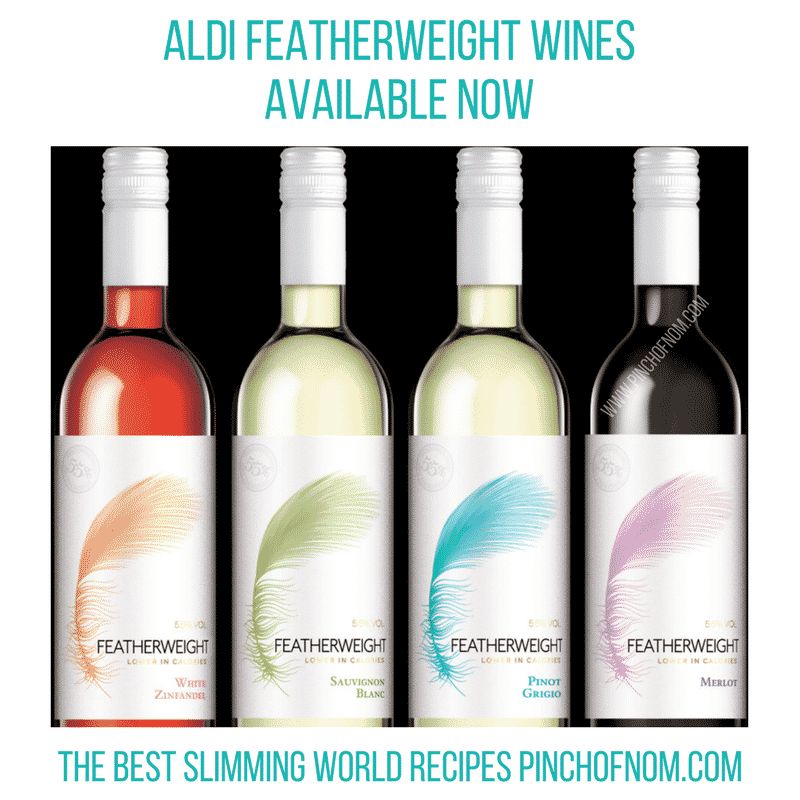 aldi featherweight wine bottles slimming world new shopping essentials pinch of nom