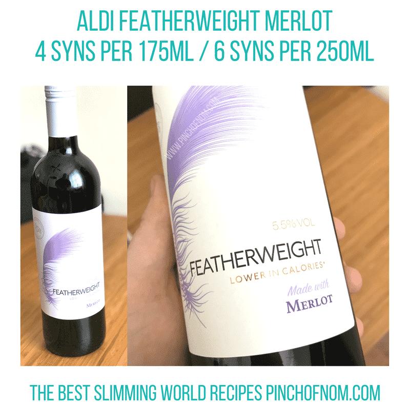 aldi featherweight wine slimming world new shopping essentials pinch of nom