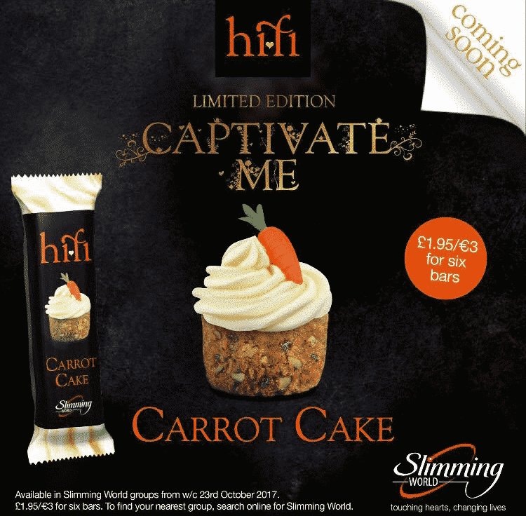 Slimming World Carrot Cake Hi-Fi Bars