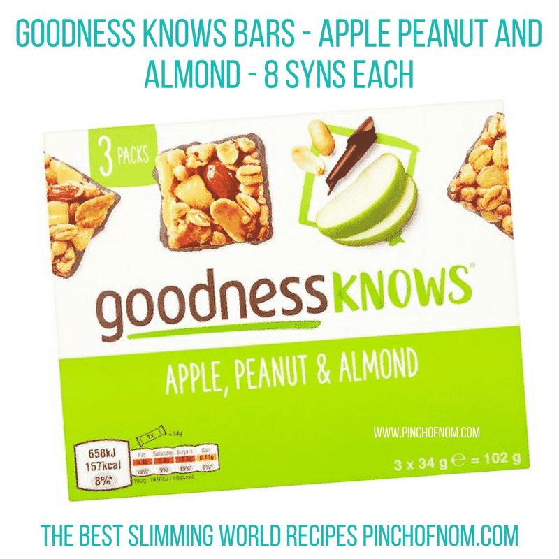 goodness knows apple peanut and almond new slimming world essentials - pinch of nom