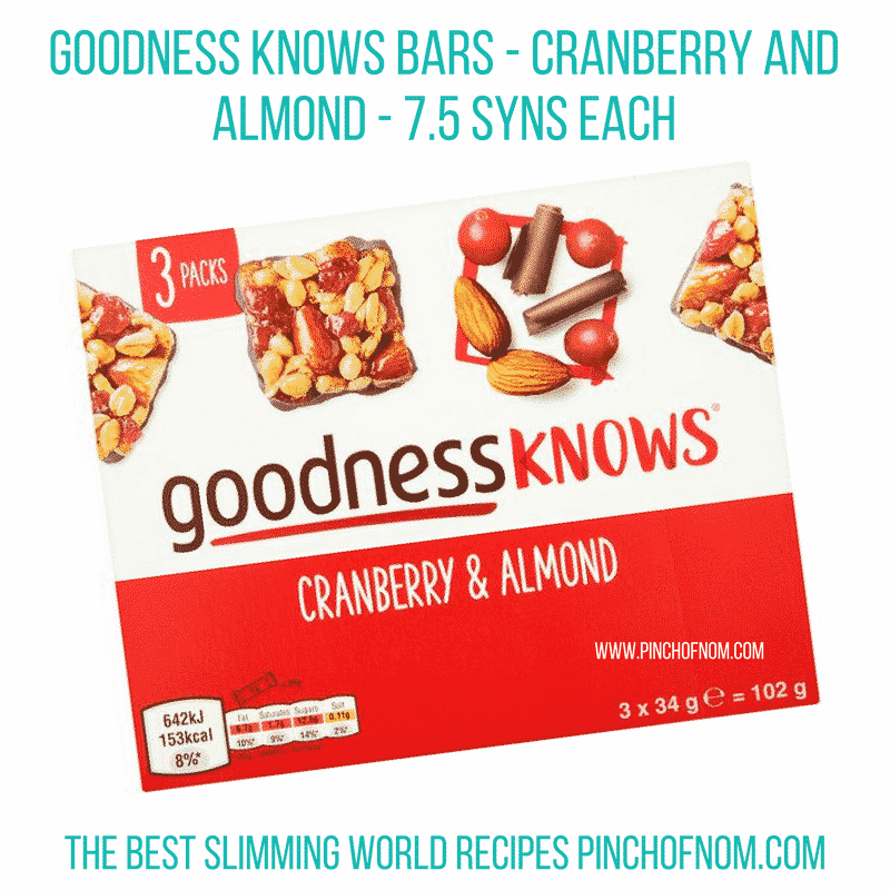 goodness knows cranberry and almond new slimming world essentials - pinch of nom