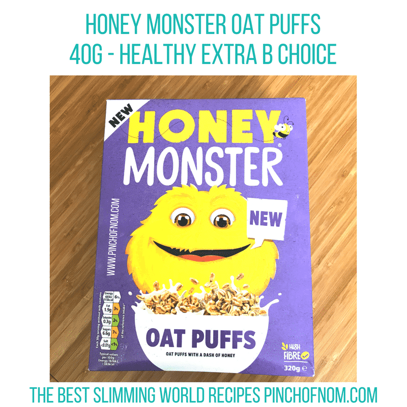honey monster oat puffs slimming world new shopping essentials pinch of nom