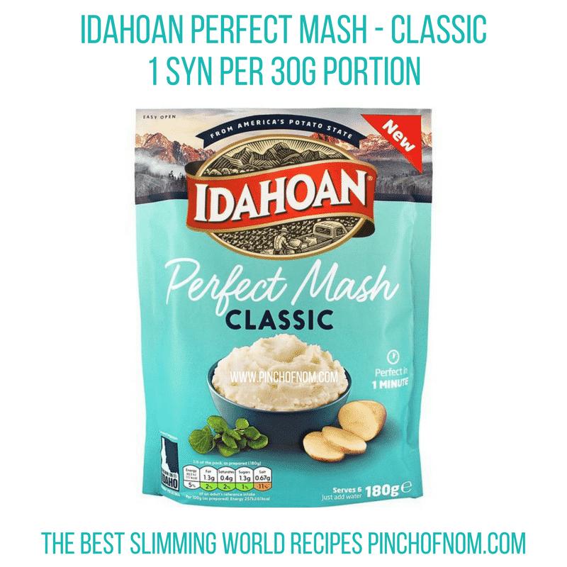 idahoan mash - classic - pinch of nom - slimming world shopping essentials
