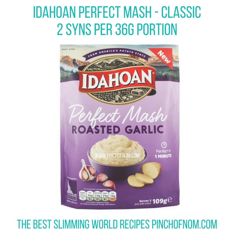 idahoan mash - roasted garlic - pinch of nom - slimming world shopping essentials