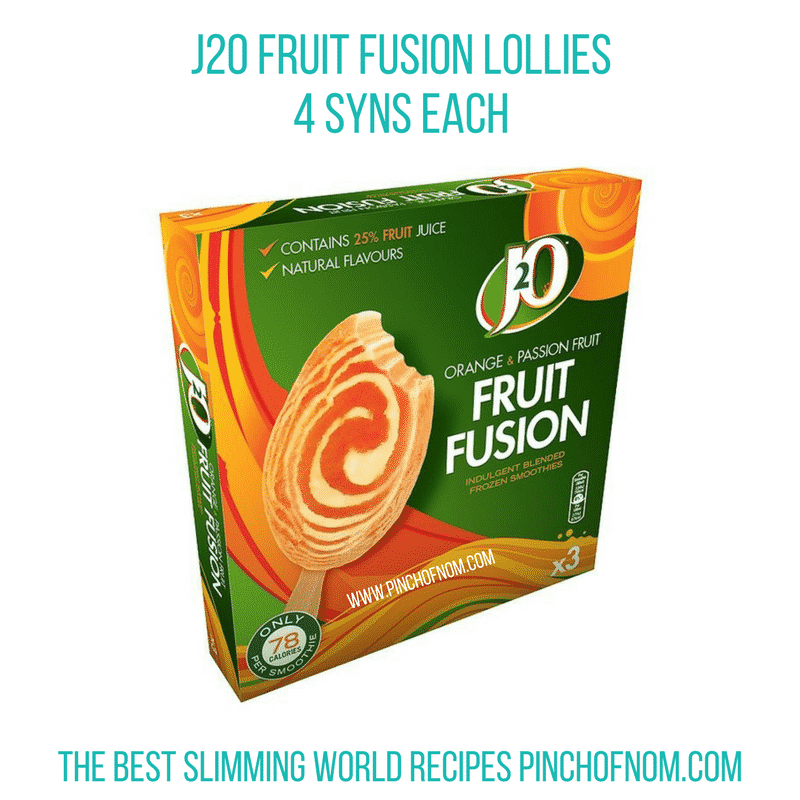 j2o fruit fusions new slimming world essentials - pinch of nom