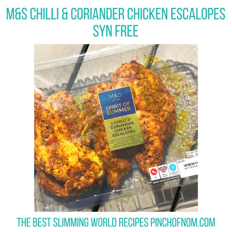 m&S chilli coriander chicken slimming world new shopping essentials pinch of nom