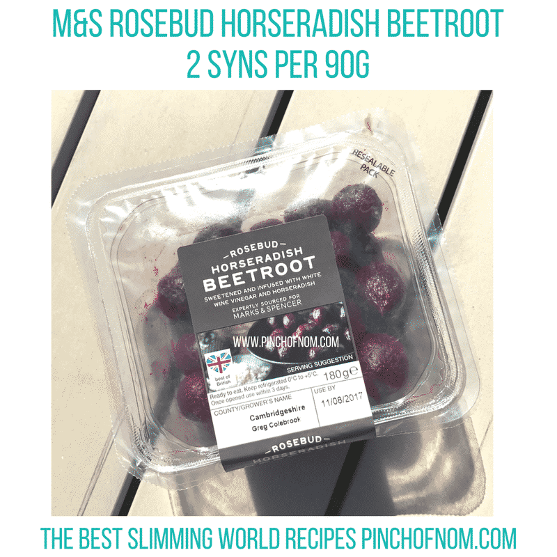 m&s beetroot protein-food-shop-fish slimming world new shopping essentials pinch of nom