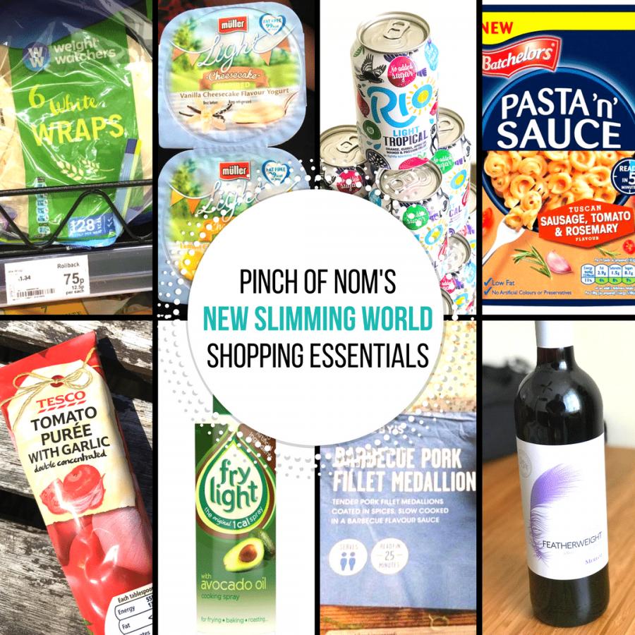 new slimming world shopping essentials pinch of nom