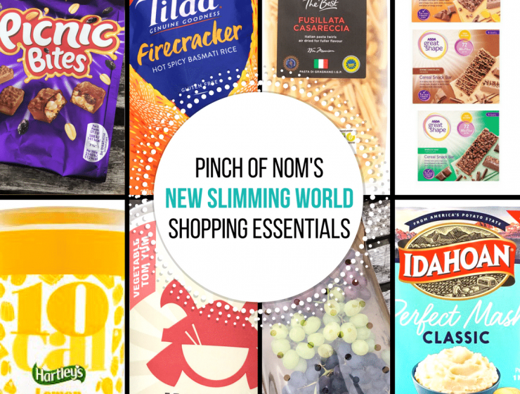 new slimming world shopping essentials - pinch of nom - featured