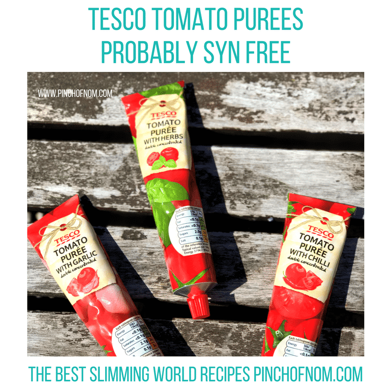 new tesco tomato purees - slimming world shopping essentials - pinch of nom