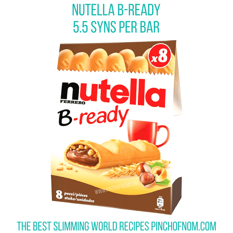 nutella bready bars slimming world new shopping essentials pinch of nom