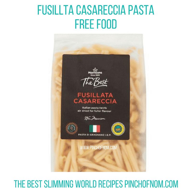 pasta morrisons - pinch of nom - slimming world shopping essentials