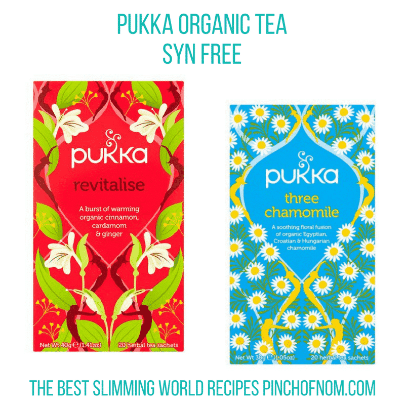 pukka organic tea new slimming world essentials - pinch of nom